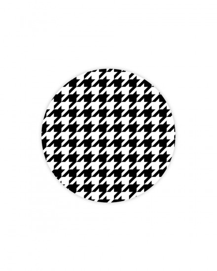 Houndstooth Black  - MOUSEPAD