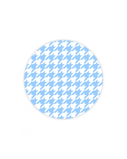 Houndstooth Baby Blue  - MOUSEPAD