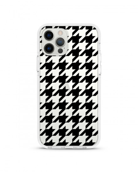 X-TECH BUMPER CASE - Houndstooth (Black)