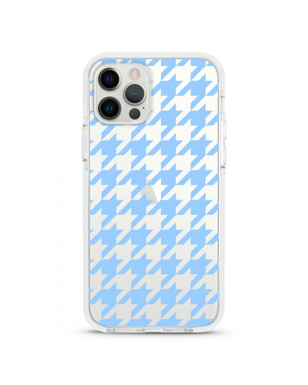 X-TECH BUMPER CASE - Houndstooth (Baby Blue)