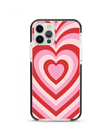 X-TECH BUMPER CASE - Candycane Hearts