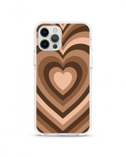 X-TECH BUMPER CASE - Mocha Hearts
