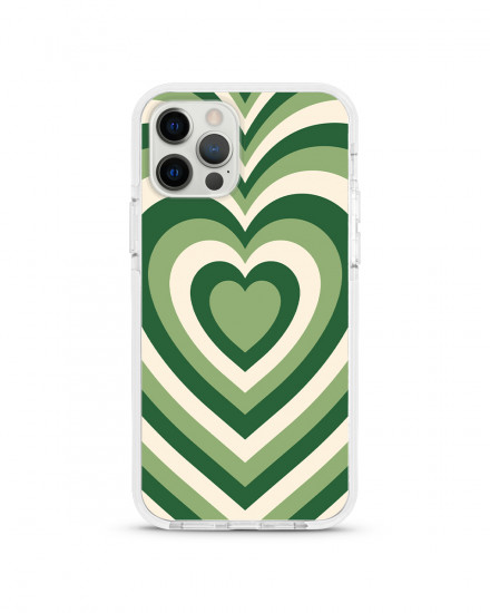 X-TECH BUMPER CASE - Matcha Hearts