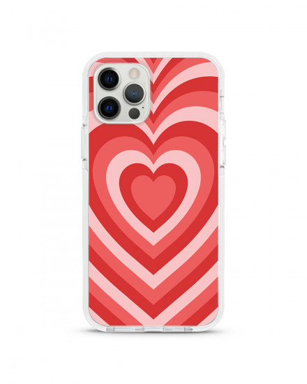 X-TECH BUMPER CASE - Red Velvet Hearts