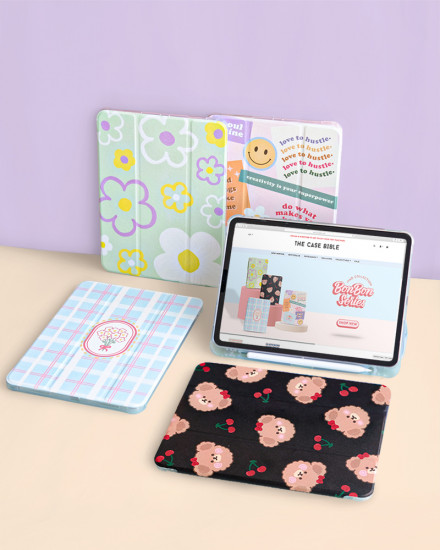 iPad Case - Flower Plaids