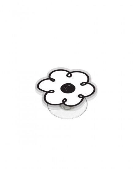 Acrylic POPSTAND - Flower Doodle (White)