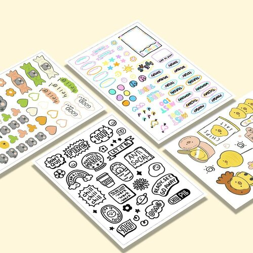 Fresh drops ✨✨ Our best selling Deco Stickers are back with new designs to elevate the look of your 📒, 💻📱, and many more!   It's waterproof💧, extra cute 🐥, and one of them can also be used again and again as a reminder. Which would you pick out of the four?  #Deco #Sticker #TheCaseBible